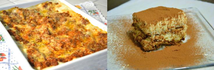 lasagna&tiramisu