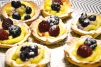 mini custard and fruit tarts