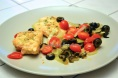 salmon with mediterranean side