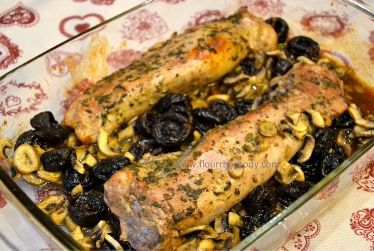 pork with mushrooms and prunes