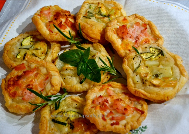 puff pastry quiches
